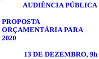Audiência pública sobre o orçamento de 2020