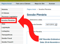 Detalhes das sessões plenárias disponíveis no portal