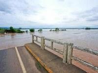 Grande enchente em Agudo