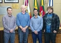 Presidente Ver. Paulo Unfer recebe Vereadores do município de Charqueadas